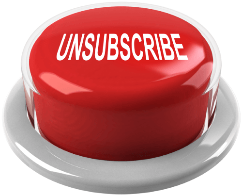 unsubscribe button newsletter